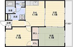 長井マンション[2階]の間取り