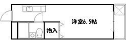 京都府京都市山科区上野御所ノ内町の賃貸マンションの間取り
