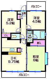 神奈川県横浜市神奈川区片倉3丁目の賃貸マンションの間取り