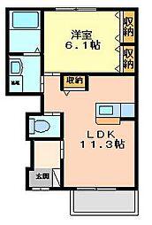 マルハI番館[1階]の間取り
