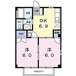 ドミール葵[1階]の間取り