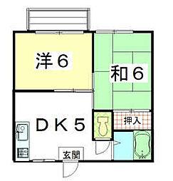 茨城県ひたちなか市大字東石川の賃貸アパートの間取り