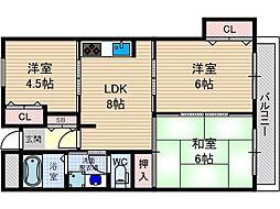 マンショングリーンヒルパート2[3階]の間取り