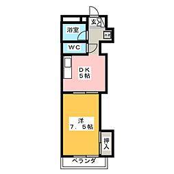 芹澤マンション[2階]の間取り