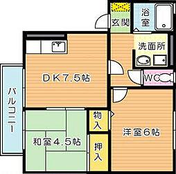プレミール高須[2階]の間取り