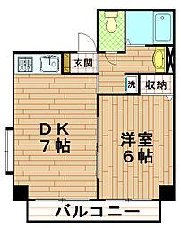 兵庫県神戸市灘区岸地通2丁目の賃貸マンションの間取り