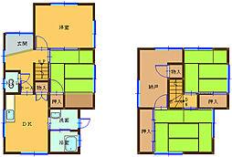 [一戸建] 和歌山県海南市大野中 の賃貸【/】の間取り