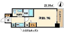 エステムコート難波サウスプレイスIVパークグレイス[5階]の間取り