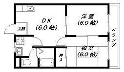 パティオ21[2階]の間取り