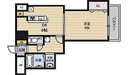 セレブコート新北野[8階]の間取り