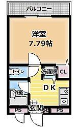 TAIHOレジデンス大日III[3階]の間取り