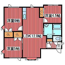 [タウンハウス] 北海道札幌市豊平区福住三条10丁目 の賃貸【/】の間取り