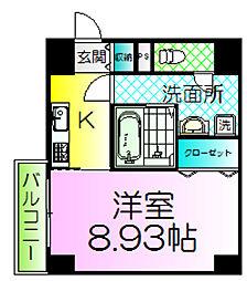ルフレ堺[1階]の間取り