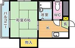 シャトレ三ヶ森[5階]の間取り