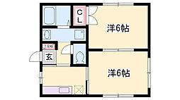 中山手ガーデンパレスC棟[2階]の間取り