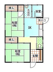 [一戸建] 静岡県富士市元町 の賃貸【静岡県 / 富士市】の間取り