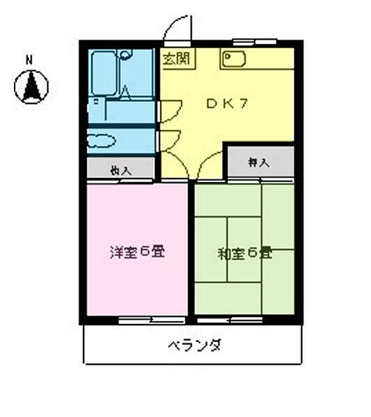 松村ハイツ(分梅町)[202号室]の間取り