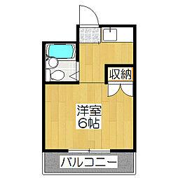 ドムス松ヶ崎[105号室]の間取り