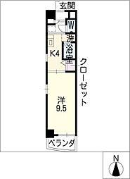 クレセール・サン[8階]の間取り