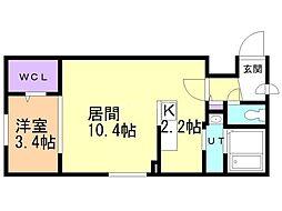 Vivace413 3階1LDKの間取り