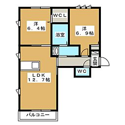 シャーメゾン岩崎[2階]の間取り