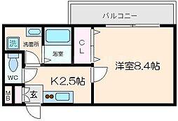 ファミーユ千里[3階]の間取り