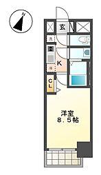 プレサンス大曽根駅前ファースト[12階]の間取り