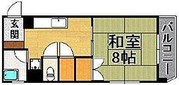 天神第5レジデンス江崎[6階]の間取り