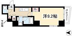 イースタンヒルズ八事 7階1Kの間取り