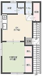 諏訪荘[201号室]の間取り