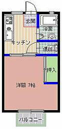 小川ハイツ C棟[202号室]の間取り