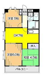 メゾンドマヤ[2階]の間取り