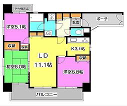 コスモ志木ステーションビュー[5階]の間取り