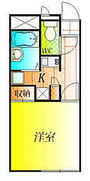 レオパレスヴァンベールII[1階]の間取り
