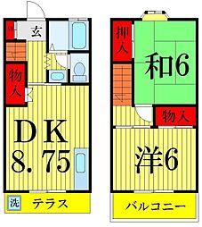[タウンハウス] 東京都葛飾区小菅2丁目 の賃貸【/】の間取り