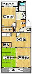 ボナールシャトレー原木[2階]の間取り