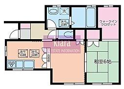 神奈川県横浜市南区南太田1丁目の賃貸アパートの間取り
