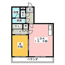 フェアモント21[4階]の間取り