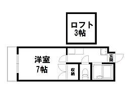 モン・エスパシオ松ヶ崎[2階]の間取り