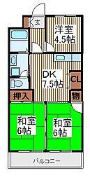 ラフォーレ飯倉[1階]の間取り