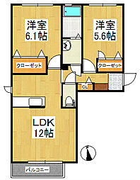 シャーメゾン新合川[1階]の間取り