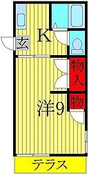 コーポ加賀[103号室]の間取り