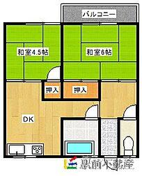 宮の前アパート[101号室]の間取り