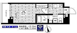 ステージグランデ上野 3階1Kの間取り