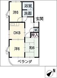 ベルテ新栄[3階]の間取り