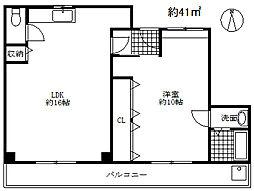 兵庫県神戸市兵庫区松原通2丁目の賃貸マンションの間取り