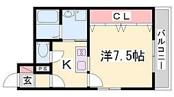 M's三宮[4階]の間取り