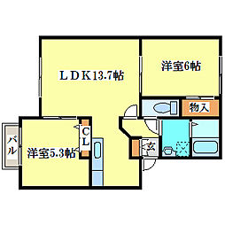 ピュアA[2階]の間取り