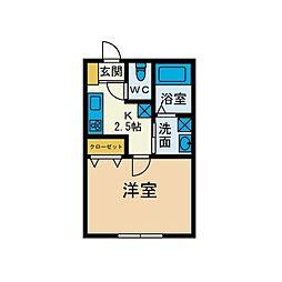 シンフォライズ湘南Natural[1階]の間取り