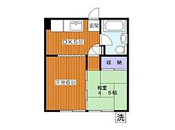 東京都板橋区西台3丁目の賃貸マンションの間取り